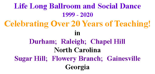 Text Box: Life Long Ballroom and Social Dance